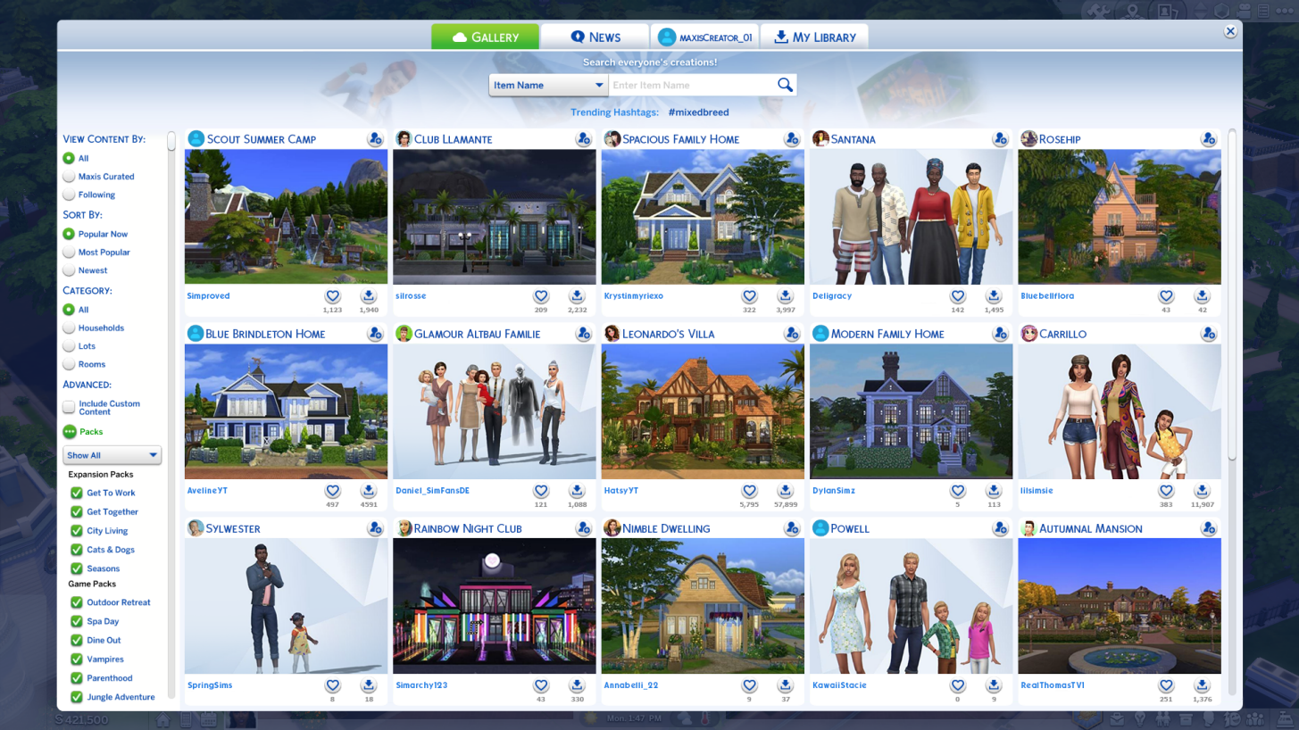 download from sims 4 gallery without origin